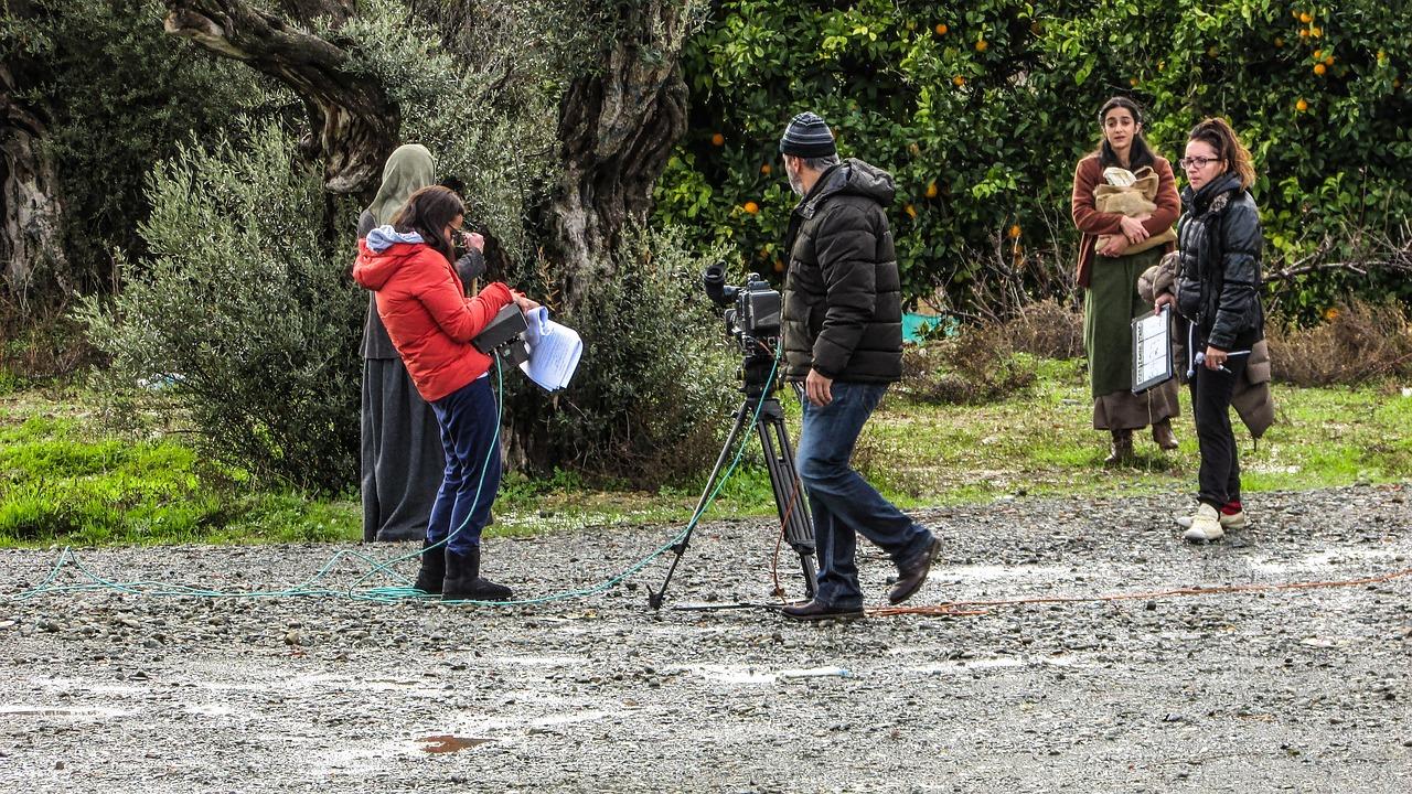 filmagem de produtora de vídeo