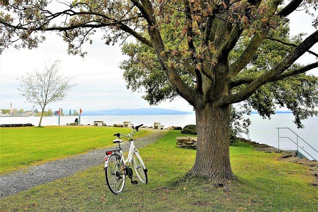 bicicleta na beira da praia